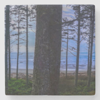 Ruby Beach sea shore Stone Coaster