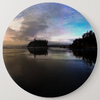 Ruby Beach Sunset | Olympic NP 6 Cm Round Badge