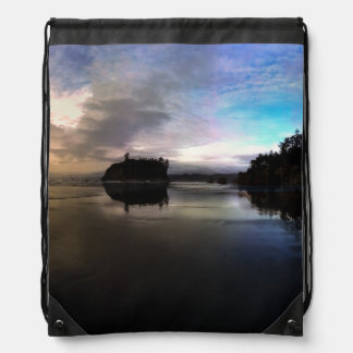 Ruby Beach Sunset | Olympic NP Drawstring Bag