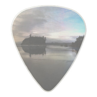 Ruby Beach Sunset Reflection Acetal Guitar Pick