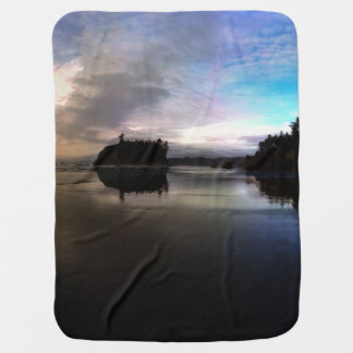 Ruby Beach Sunset Reflection Baby Blanket