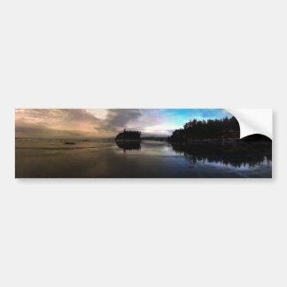 Ruby Beach Sunset Reflection Bumper Sticker