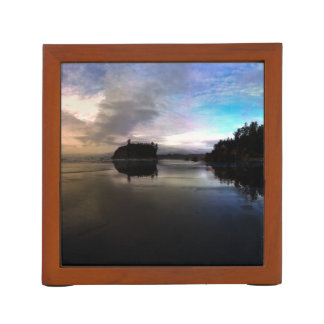 Ruby Beach Sunset Reflection Desk Organiser