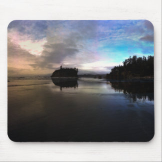 Ruby Beach Sunset Reflection Mouse Pad