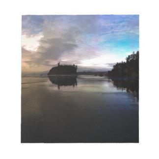 Ruby Beach Sunset Reflection Notepad
