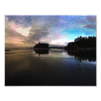 Ruby Beach Sunset Reflection Photo Print