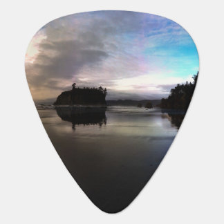 Ruby Beach Sunset Reflection Plectrum