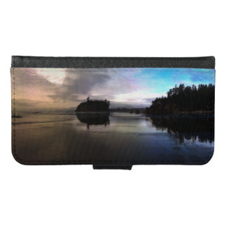 Ruby Beach Sunset Reflection Samsung Galaxy S6 Wallet Case