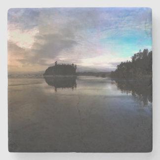 Ruby Beach Sunset Reflection Stone Coaster