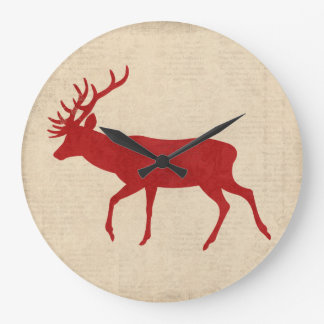 Ruby Buck Silhouette Clock