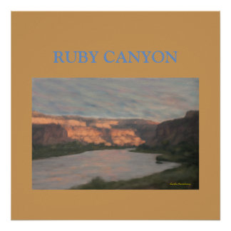 Ruby Canyon from the Train Digital Travel Poster