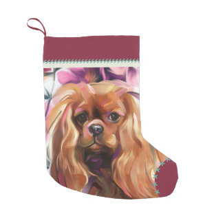 Ruby Cavalier Christmas Stocking | red turquoise
