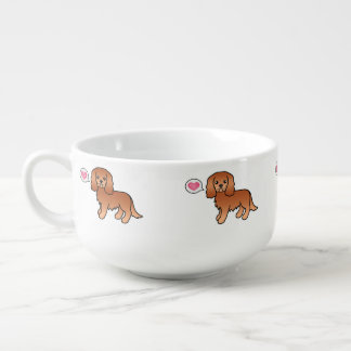 Ruby Cavalier King Charles Spaniel Cartoon Dog Soup Mug
