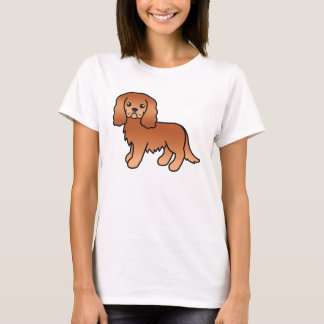 Ruby Cavalier King Charles Spaniel Cartoon Dog T-Shirt