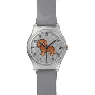 Ruby Cavalier King Charles Spaniel Cartoon Dog Watch