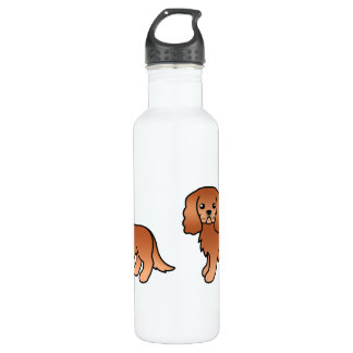 Ruby Cavalier King Charles Spaniel Dog 710 Ml Water Bottle