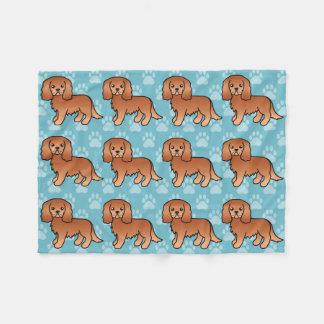 Ruby Cavalier King Charles Spaniel Dog Fleece Blanket