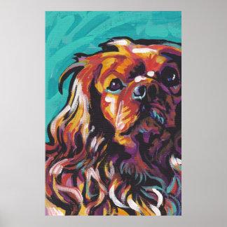 Ruby Cavalier King Charles Spaniel Pop Art Poster