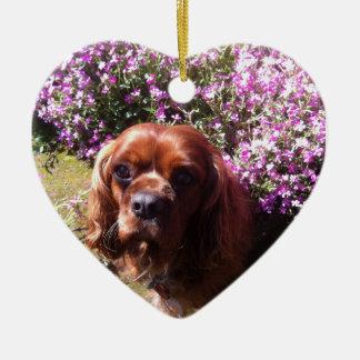 Ruby Cavalier Spaniel Ceramic Ornament