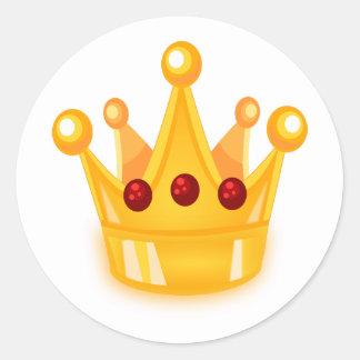 Ruby Crown Classic Round Sticker