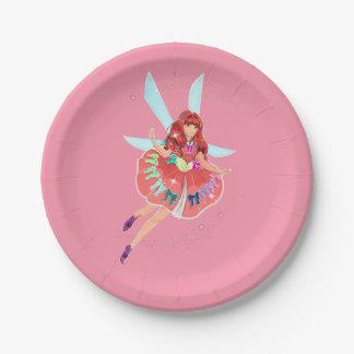 "Ruby Custom Paper Plates 7"""
