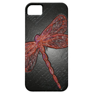 Ruby Dragonfly iPhone 5 Cases