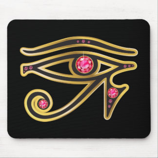 Ruby  Eye of Ra in Gold Mouse Pad