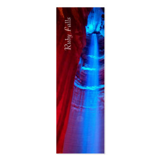 Ruby Falls Bookmark Business Card Template