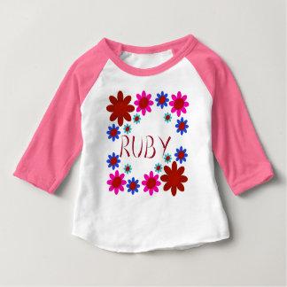 RUBY Flowers Baby T-Shirt