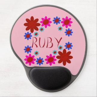 RUBY Flowers Gel Mouse Pad