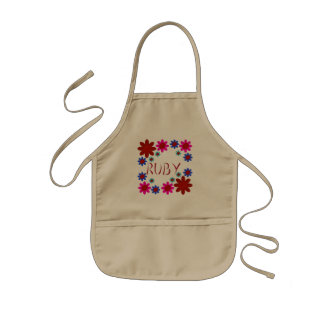 RUBY Flowers Kids Apron