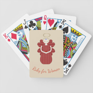 Ruby for Women Red Angel Bicycle Playing Cards