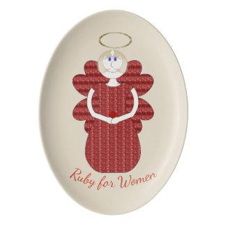 Ruby for Women Red Angel Porcelain Serving Platter