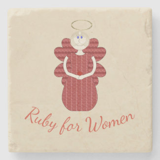 Ruby for Women Red Angel Stone Coaster