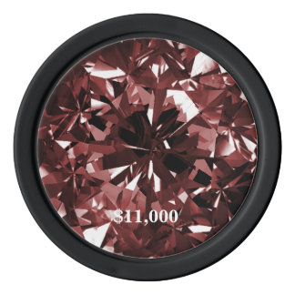 Ruby Gem Fog Filter Clay Poker Chip Stripe Edge Poker Chips