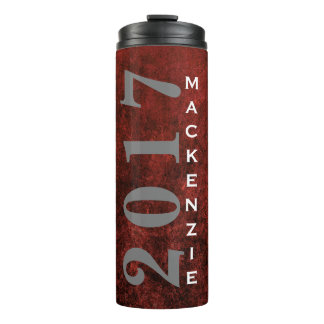 Ruby Grad Red Garnet Crimson Scarlet Keepsake Thermal Tumbler