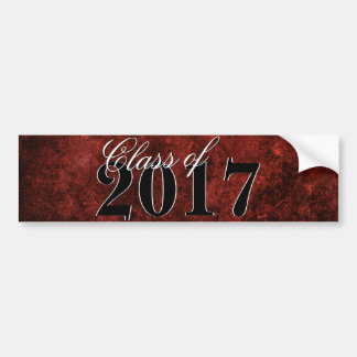 Ruby Grad | Red Garnet Crimson Scarlet Party Theme Bumper Sticker