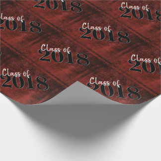 Ruby Graduation | Red Black White Modern Grad Wrapping Paper