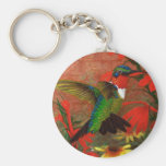 Ruby Hummingbird Key Chain