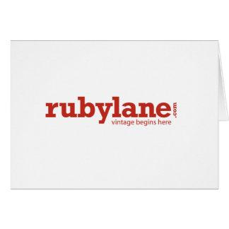 """Ruby Lane Thank you Card -  7"""" x 5"""""""
