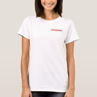Ruby Lane's Women's V-Neck T-Shirt, White T-Shirt