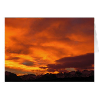 Ruby Mountain Sunset Card