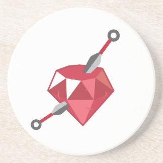 Ruby Ninja Gemstone Geek Coaster