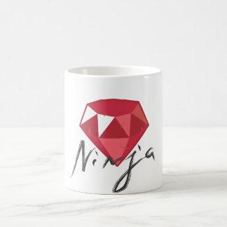 Ruby Ninja Gemstone Geek Coffee Mug