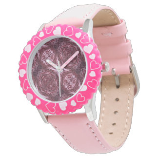 Ruby Pink Lace Wrist Watches