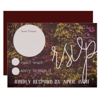 Ruby Plant Wall RSVP Card