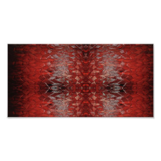 """""""Ruby Red"""" Abstract Art Photo Print"""