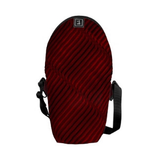 Ruby Red and Black Pattern Courier Bags