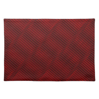 Ruby Red and Black Pattern Placemat