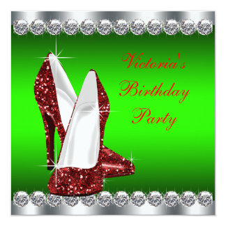 wedding invitations with rsvp high heeled shoe themed invitations amp announcements 9778